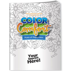 Adult Coloring Book - Hues of Happiness (Flowers)