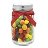 4 oz Glass Mini Mason Jar Filled with Skittles