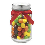 4 oz Glass Mini Mason Jar Filled with Skittles