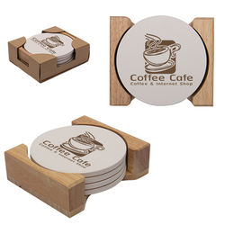 Round Stone Coaster - Set of 4