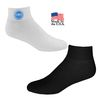 Full Cushion Athletic Ankle Socks with Full Color Printed Applique (Fastest Ship)
