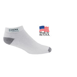 Moisture-Wicking Athletic Low-Cut Socks with Full Color Printed Applique (Fastest Ship)