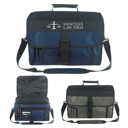"12"" x 16"" Polyester Expandable Deluxe Briefcase"