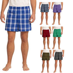 Young Men's Sized Flannel Plaid Boxer Shorts