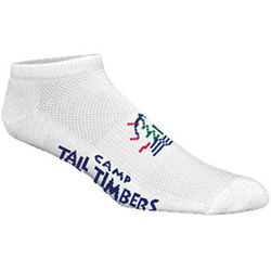 High Performance Moisture Wicking No Show Sock with Knit-In Logo