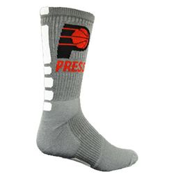 Moisture-Wicking Basketball Sock with Knit-In Logo (Longer Ship)