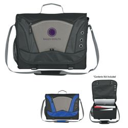 "11"" x 15"" Polyester Mega Messenger Bag with Padded Pocket For Laptops Or Tablets"