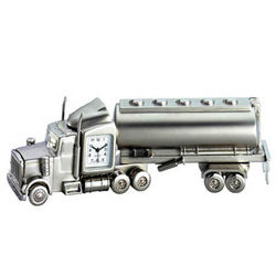 Metal Oil Tanker Desk Clock