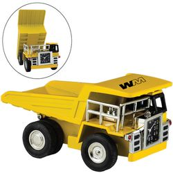 Yellow Dump Truck Desk Clock