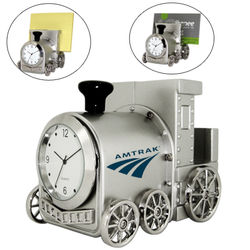 Die-Cast Metal Train Desk Clock