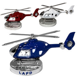 Die-Cast Metal Helicopter Desk Clock