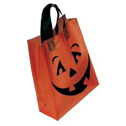 Orange Plastic Pumpkin Bag