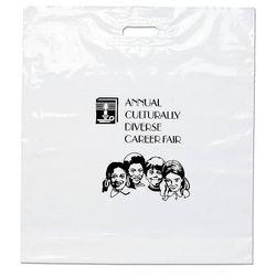 """Plastic Bag with Die Cut Handle - 22"""" x 24"""""""