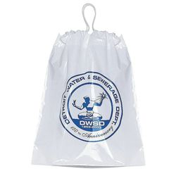 "12"" x 16"" Plastic Bag with Cotton Drawstring"