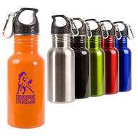 17 oz. Stainless Steel Single Wall Bottle with Carabiner