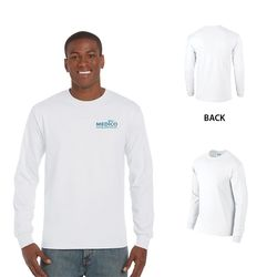 Quick Ship Gildan® Ultra Cotton Classic Fit Long Sleeve Tee -White