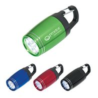 Compact Flashlight - 6 LED - with Carabiner Clip
