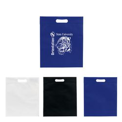 "13"" x 15"" Non-Woven Tote with Die-Cut Handle and 3"" Gusset"