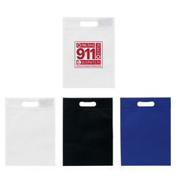 "10"" x 14"" Non-Woven Tote with Die-Cut Handle"