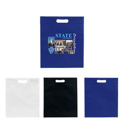 "13"" x 15"" Non-Woven Tote with Die-Cut Handle and 3"" Gusset and Full Color Printing"