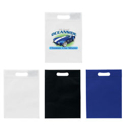 "10"" x 14"" Non-Woven Tote with Die-Cut Handle and Full Color Printing"