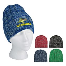 Knit Heathered Beanie Cap