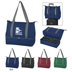 "8"" x 16"" Shoulder Tote Bag with Bottom Shoe Compartment"
