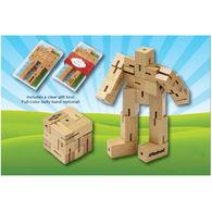Hardwood Robot Cube Puzzle