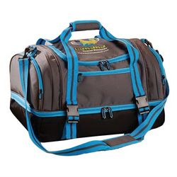 "19"" Duffel with 2-Tiered Zippered Storage Compartments"