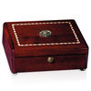 Rosewood Box with Inlaid Border and Medallion