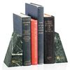 Green Marble Bookends