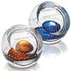 Color Splash Art Glass Paperweight