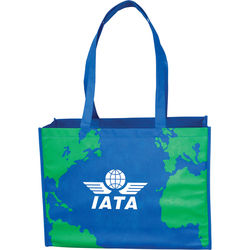 "16"" x 12"" Earth Shoulder Tote Bag with 28"" Handles"