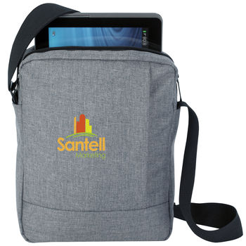 """Trendy """"Snow Canvas"""" E-Messenger Bag Holds Most Tablets"""