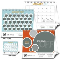 Scratch-Off Interactive Desk Calendar - Fun Facts, Tips and Motivations Every Day!