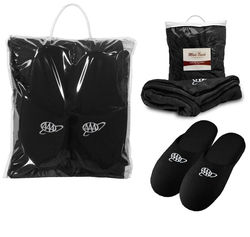 Cozy Blanket and Slippers Gift Set