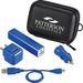 Tech Gift Set - 2000 mAh METAL Power Bank, Car Charger, Wall Charger, and Micro USB Charging Cable