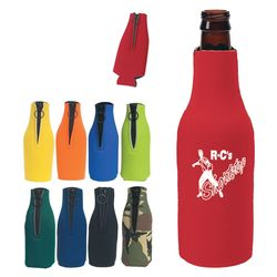 Foam Bottle Cooler with Zipper