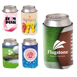 Foam Collapsible Can Cooler with Stock Designs Ready for your Logo Drop!