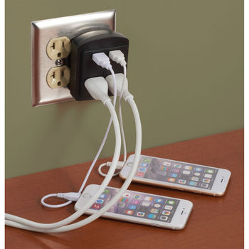 Wall Charger with 2 USB and 2 AC, ETL™-Certified