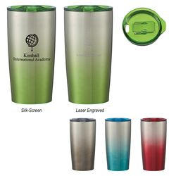 20 oz Hot/Cold Stainless Steel Vacuum Insulated Travel Tumbler with Ombre Color
