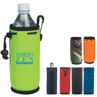 Cooler for 20 oz Water Bottle with Swivel Clip, Belt Loop And Drawstring
