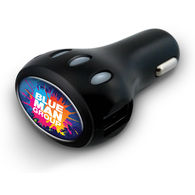 Electron™ High Speed USB Car Charger with Full-Color Printing