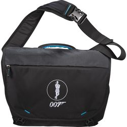 """12.5"""" x 17.5"""" PolyCanvas Messenger Bag Holds Up To 15"""" Laptops, Has Phone Pocket in Strap"""