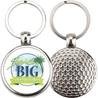 Golf Ball Keychain with Full Color Printing