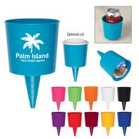 Beverage Holder Holds Drinks Securely on the Beach