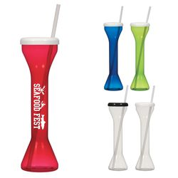 18 oz Plastic Yard Cup with Straw
