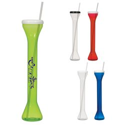 24 oz Plastic Yard Cup with Straw