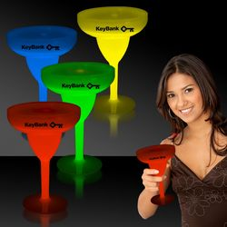 10 oz Plastic Glow-Stick Margarita Glass