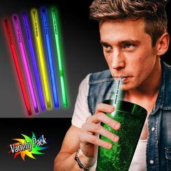 "9"" Plastic Straws (Glow-Stick Powered, Single Use)"